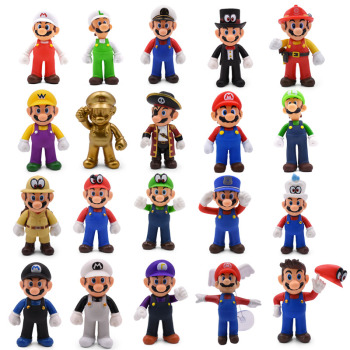 20 Styles Super Mario Bros Figure Luigi Yoshi PVC Action Doll Collectible PVC Toy Model Baby Toy Christmas Gift 6pcs set monster figures toy super doll pvc anime action figure model toys doll for kids christmas gift