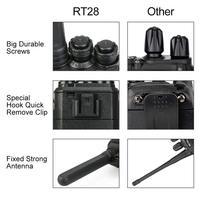 מכשיר הקשר 2pcs Retevis RT28 מכשיר הקשר 2W CTCSS & DCS VOX UHF מיקרו- USB תדר מטען שני הדרך רדיו תחנת רדיו חובבים משדר Hf (4)