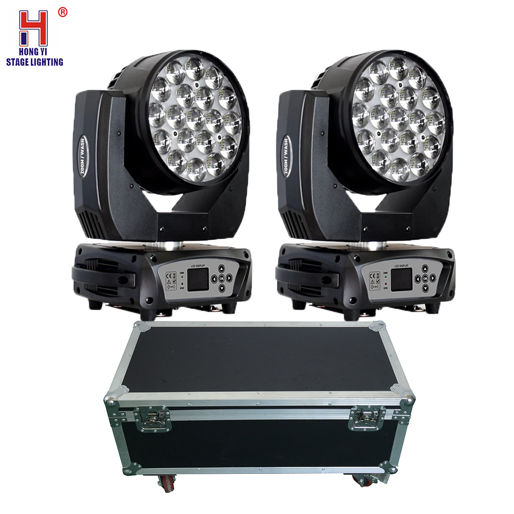 Led Wash Zoom 19x15w Rgbw Moving Head Light Zoom Moving Head With Fly Case