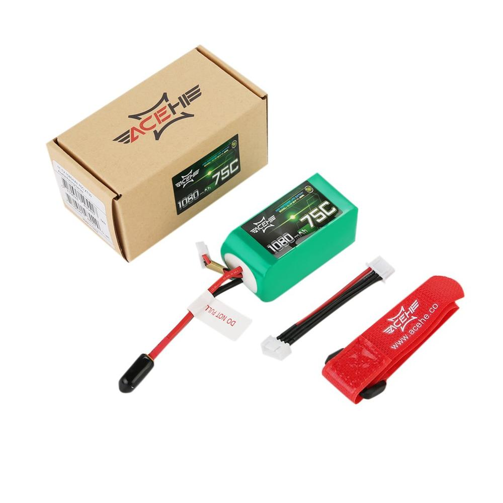 ACEHE 11.1V 1080mAh 75C Lipo Battery 3S1P 11.99WH High Discharge Battery With TX30 Plug For RC Raing Quacopter Car Boat