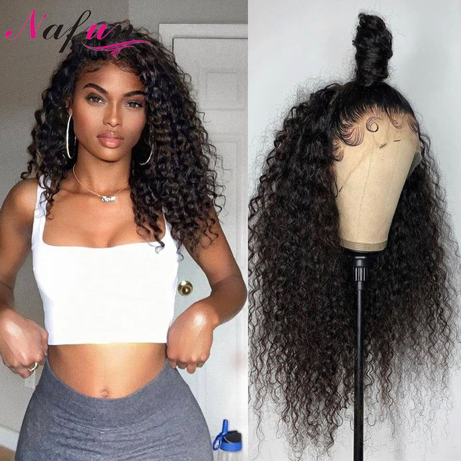 Full Lace Human Hair Wigs Kinky Curly Wig For Women Glueless Transparent Full Lace Wigs Remy Brazilian Hair Wigs 150% Density