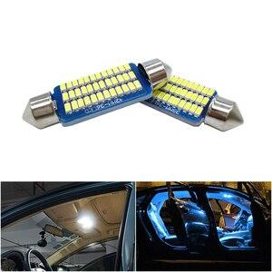 2x C5W C10W LED Festoon Lâmpadas 31mm 36mm 39mm 41mm Car Interior Dome Luz Da Placa de Licença luz azul Branco para toyota camry