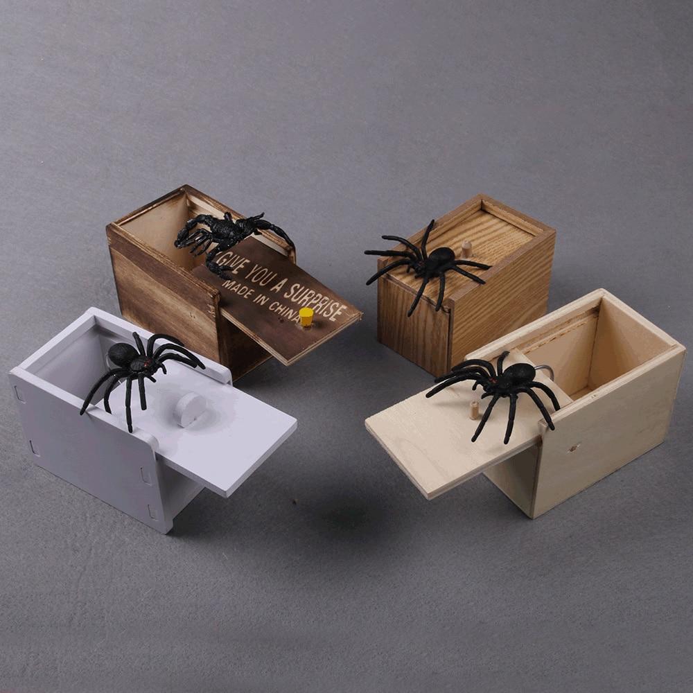 Hilarious Scare Box Spider Prank Wooden Scarebox Joke