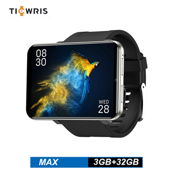 Ticwris Max 4G Watch Phone Android 7.1 MTK6739 Quad Core 3GB 32GB Smartwatch IP67 Waterproof Smart Watch 8.0MP For IOS Android