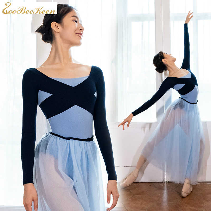 Ba Lê Thể Dục Dụng Cụ Leotard Ballerina Đào Tạo Trang Phục Nữ Múa Mặc Trưởng Thành Tập Yoga Bodysuit Màu Sắc Tương Phản Balo Phù Hợp Với