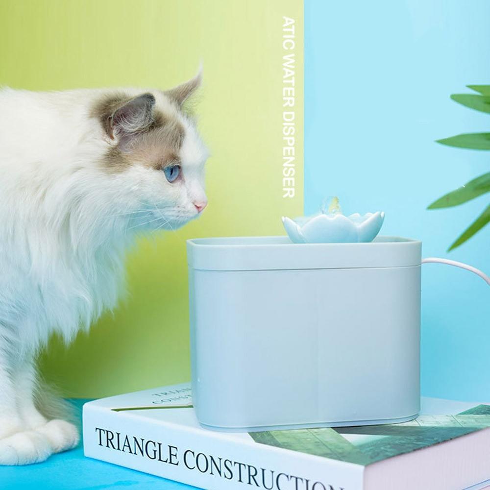 Automatico Gatto Fontana Pet Potabile Distributore di Acqua di Grandi Dimensioni Del Cane Primavera Fontana con Acqua Potabile Cat Feeder Bere Filtro Usb Alimentato - 2