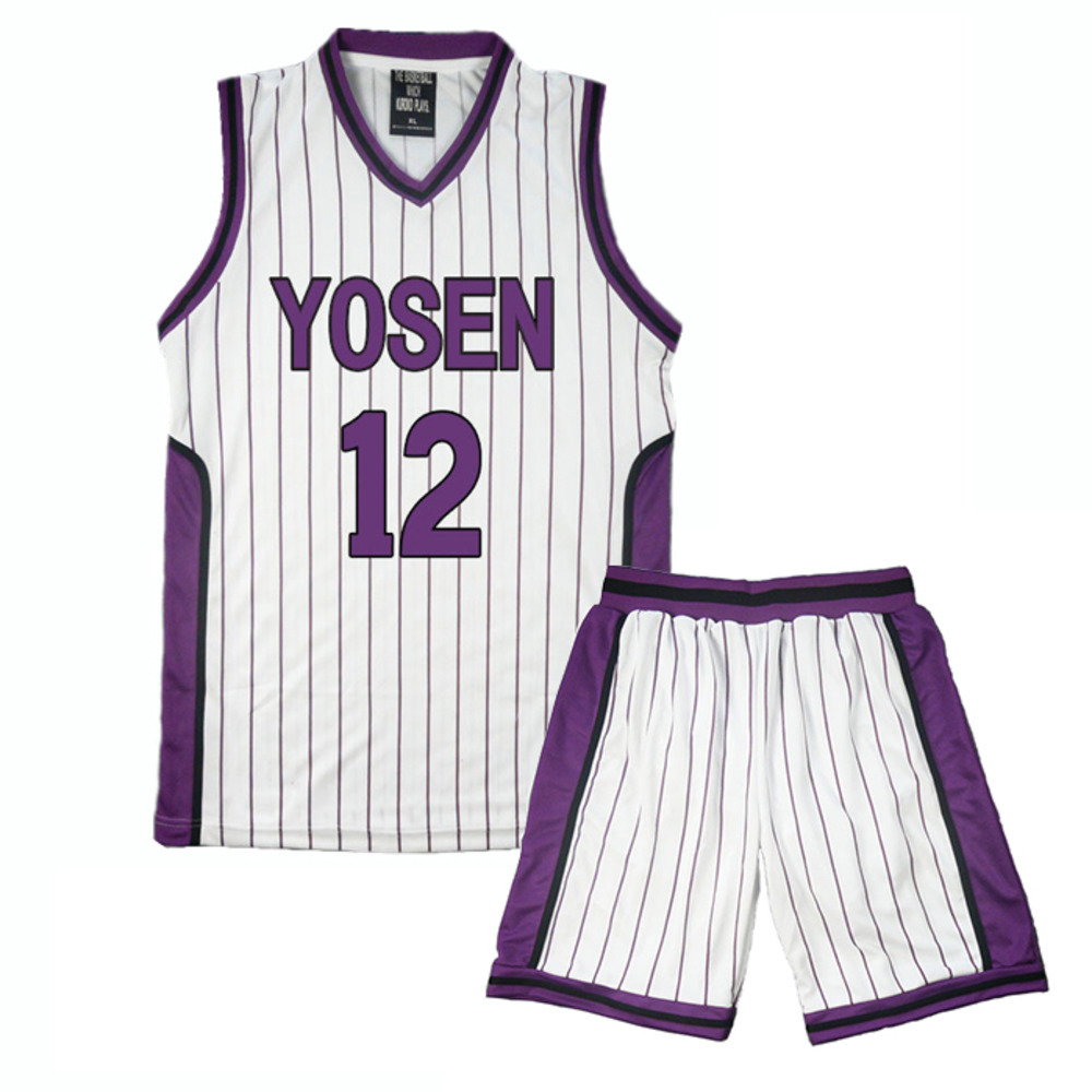 cosplay costume Sportswear Kuroko No Basketball YOSEN Murasakibara Atsushi 9#