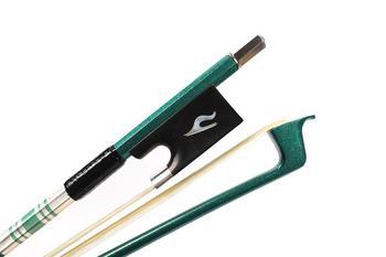 Advanced Violin Bow 4/4 Green Carbon fiber AAA Horsetail Great Balance