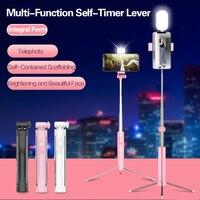 Светодиодный заполняющий свет палка для селфи 3 в 1 выдвижное устройство Bluetooth Скрытая телефона штатив монопод палка для селфи для iPhone смарт...