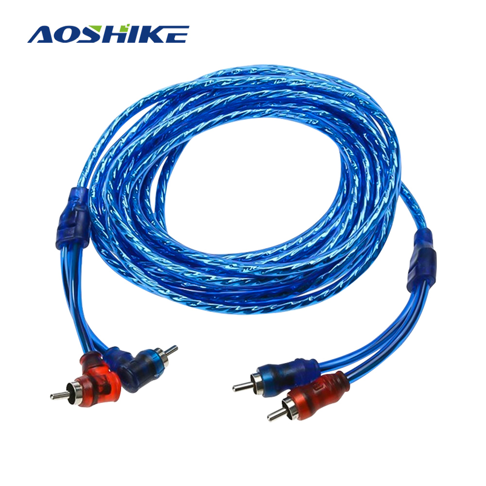 AOSHIKE 5M Car Audio Subwoofer Sub Amplifier AMP RCA Wiring Cable FUSE Wiring Installation Wires Car Cable Speakers Dropship
