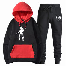 NEUE Dragon ball Sweatshirts hoodies Druck cartoon Goku dragon ball + Hosen Pullover Hohe Qualität Männer hoodie sweatshirts Outfit(China)