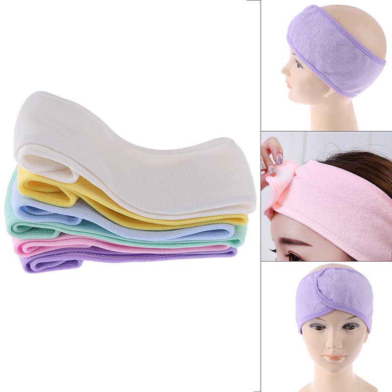 Beauty Makeup Face Wash Turban Sweat Hoop Wide Yoga Band Spa Bath Shower Make Up Wash Face Cosmetic Headband Hair Band