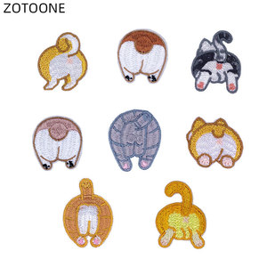 Lovely Animal Patch Embroidered Iron on Dog Badge Heat Transfer for Clothes DIY Corgi Patches for Kids Bag Clothing Applique E