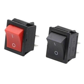 1PCS KCD4 Latching Rocker Switch Self-locking Power Switch DPST I/O 4 Pins 16A 250VAC 20A 125VAC Waterproof cap цена 2017
