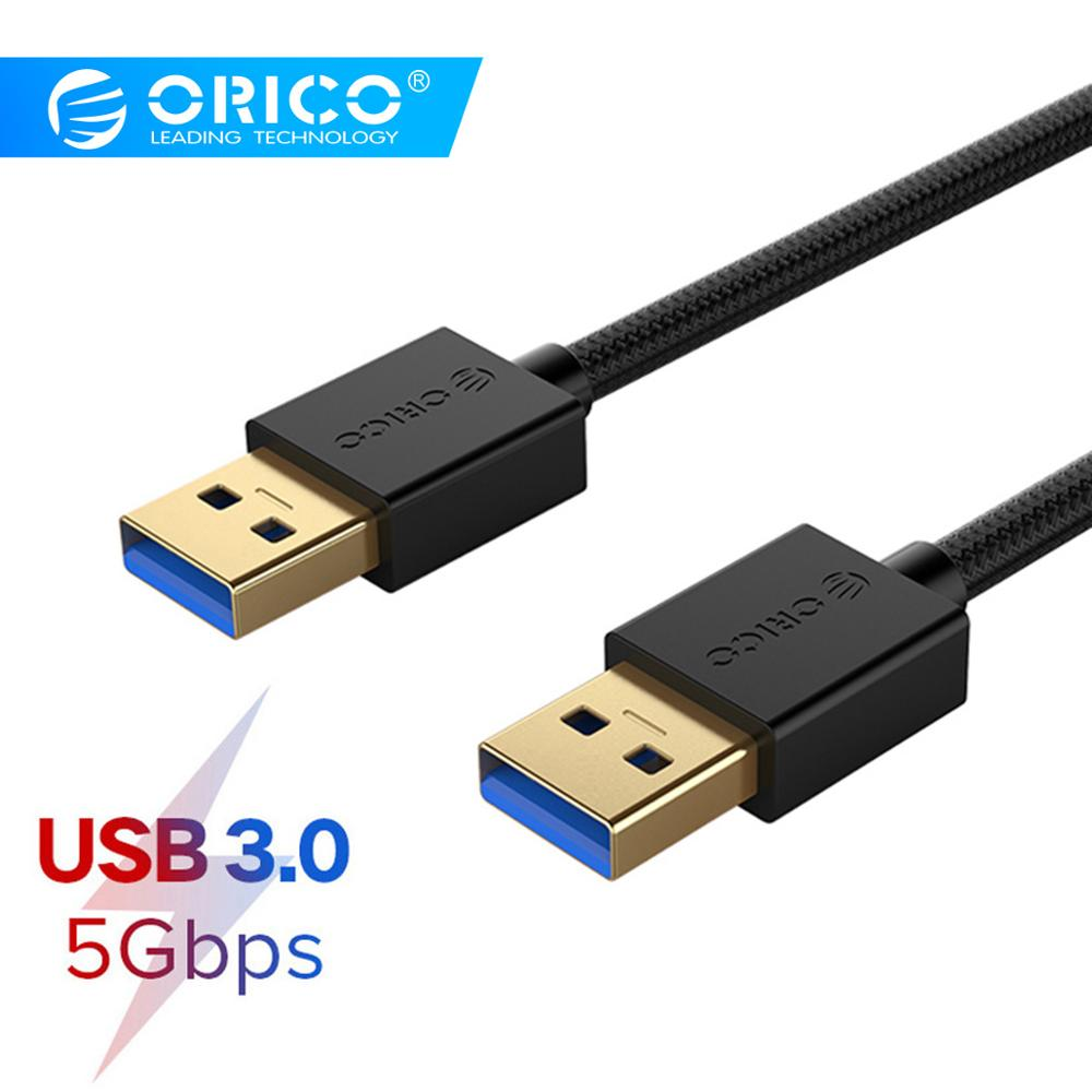 ORICO USB to USB Extension Cable 2m Type A Male USB 3 0 2 0 Data Cable for Radiator Hard Disk Webcom USB 3 0 Extender Cable in Computer Cables Connectors from Computer Office
