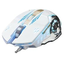 цена на Newest USB Wired Gaming Mouse Four-color Breathing Light DPI3200 Mouse for Laptop Desktop Computer