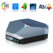 A95X S905X4 Smart TV Box Android 10 Support 8K 3D Youtube Google Play 4G 64GB 128GB Set Top TV Box Android