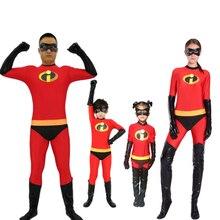 Incredibles 2 의상 미스터 부인 Incredibles 코스프레 Elastigirl 헐크 스파이더 가족 성인 키드 disfraz niño 정장 점프 슈트 바디 슈트