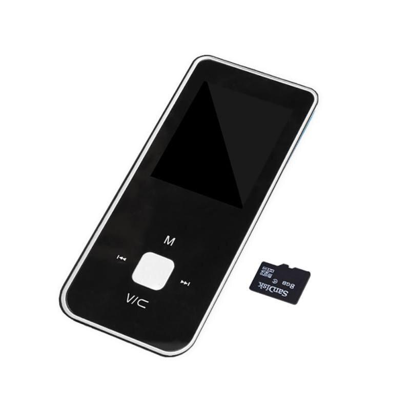 New Portable MP3 Player Button Ultra Thin MP3 Music Player 1.8 Inch Mini MP3 Music Player Support TF Card FM Radio E-book
