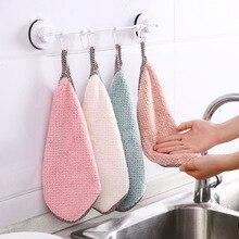 25*27.5Hangable coral fleece towels, handkerchiefs, kitchen towels, lint-free absorbent wipes, dish cloths, cleaning cloths