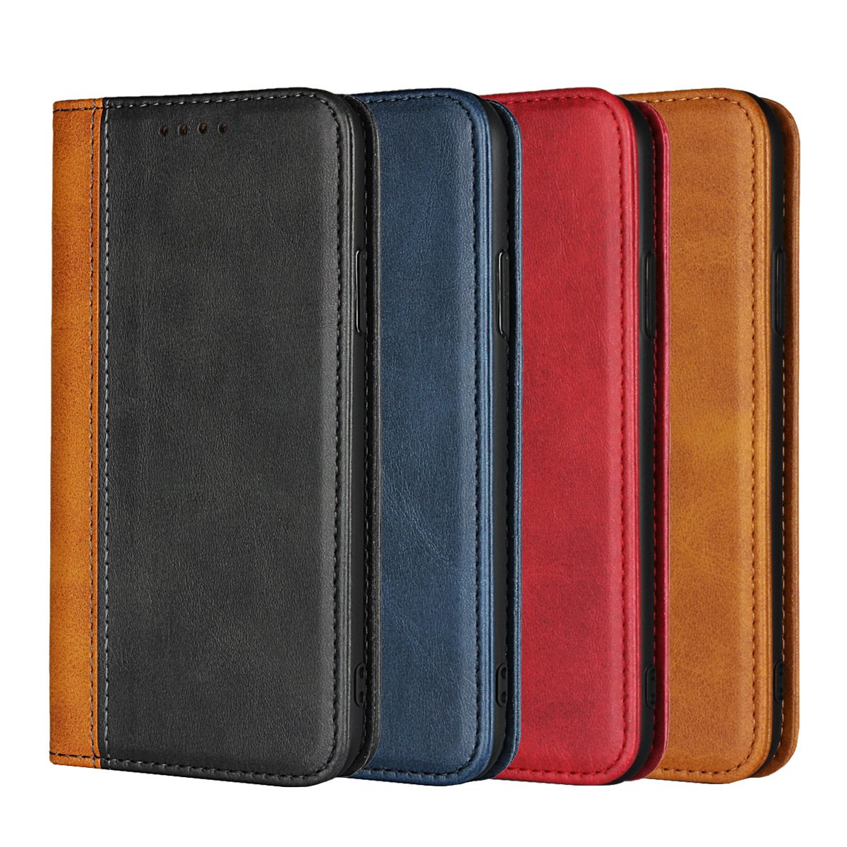 Luxury Flip Calfskin Genuine Leather Case For IPhone 7 8 6S Plus Retro Magnetic Wallet Card Holder Cover For IPhone X XS Max XR