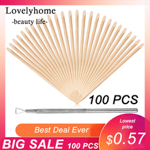 100/50/10 pcs Wooden Cuticle Pusher Nail Art Cuticle Remover Orange Wood Sticks For Cuticle Removal Manicure Nail Art Tools useful nail brush 50 100pcs bag nail art wood sticks for nail art decorations cuticle pusher remover pedicure manicure tools