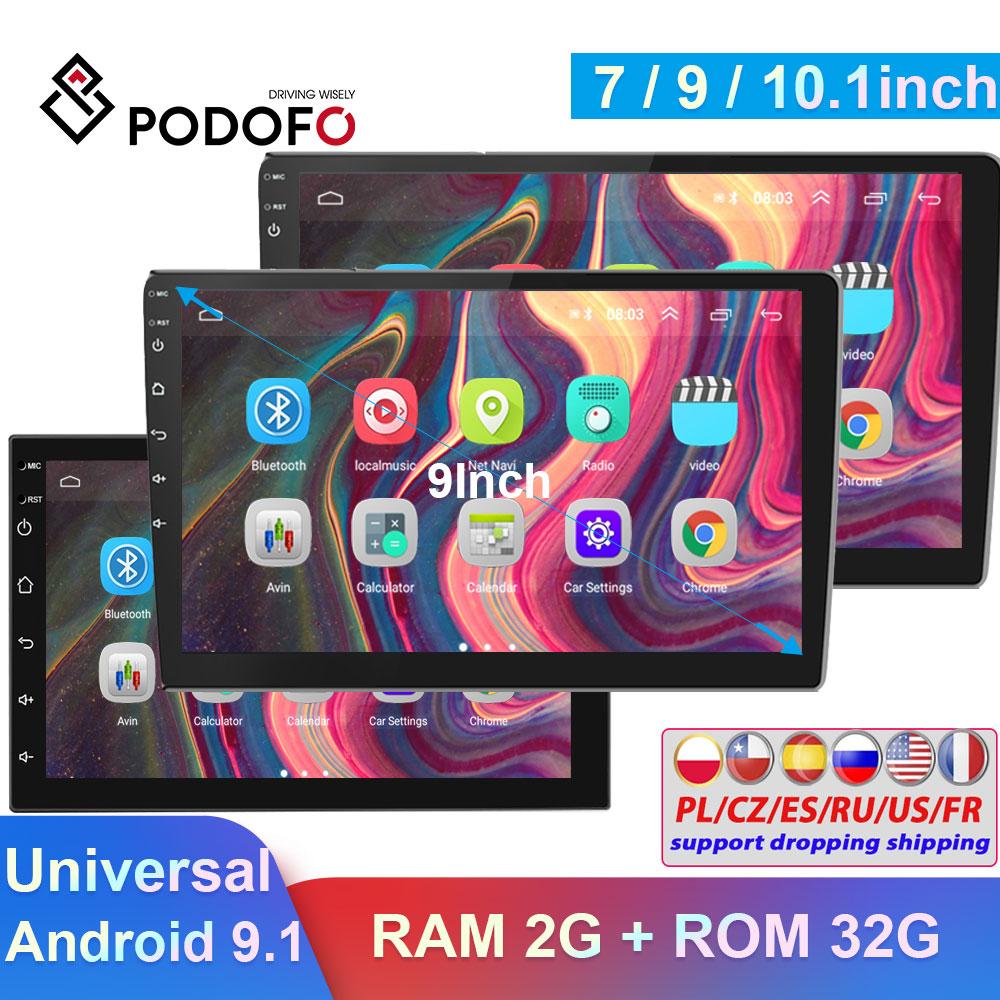 Podofo 2Din автомобильный Радио Android автомобильный GPS мультимедийный видео плеер универсальный для Фольксваген Тойота Ниссан Поло Гольф Форд Ав...