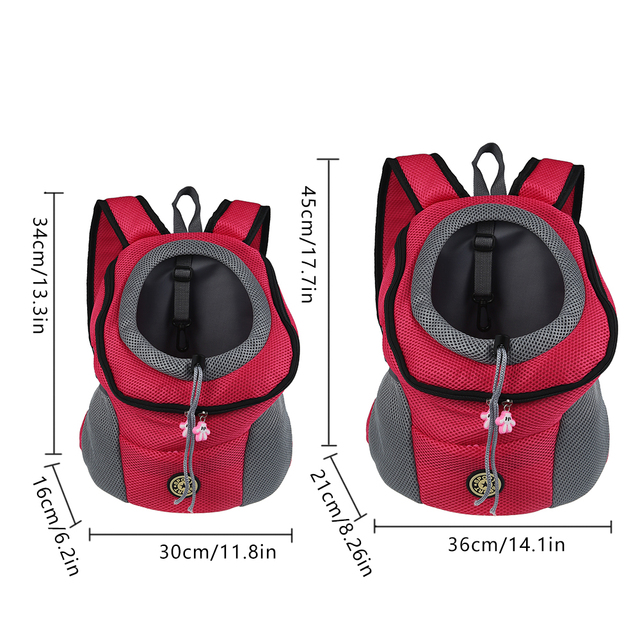 Portable Dog Cat Carrying Bag, Breathable Pet Travel Backpack
