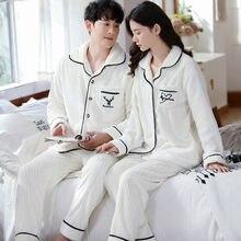 Outono inverno coral veludo casal pijamas conjunto com decote em v plus size serviço em casa terno casual feminino flanela branco pijamas