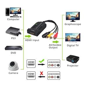 Image 3 - HDMI To AV S Videoอะแดปเตอร์HDMIอินพุตS Video AV CVBS Output Video Converter
