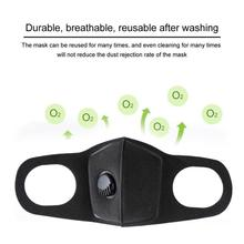 Anti Dust Mask Anti PM2.5 Pollution Face Mouth Respirator Black Breathable Valve Mask 3D Mouth Cover for Men Women