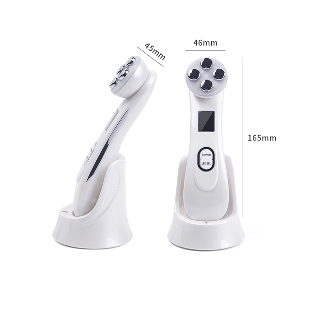 Facial Mesotherapy Electroporation RF Radio Frequency LED Photon Face Lifting Tighten Wrinkle Removal Skin Care Face Massager 5