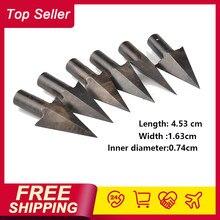 Hotest tiro com arco pontas de setas metal medieval caça para diy madeira seta longbow frete grátis
