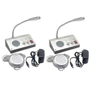 Dual Way Window-Glass  Intercom  Interphone Bank Counter Interphone Zero-touch F3MA