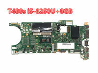 For Lenovo Thinkpad T480S laptop motherboard NM-B471 with CPU i5-8250U 8G-RAM tested 100% working FRU 02HL812 01LV602 Mainboard 1