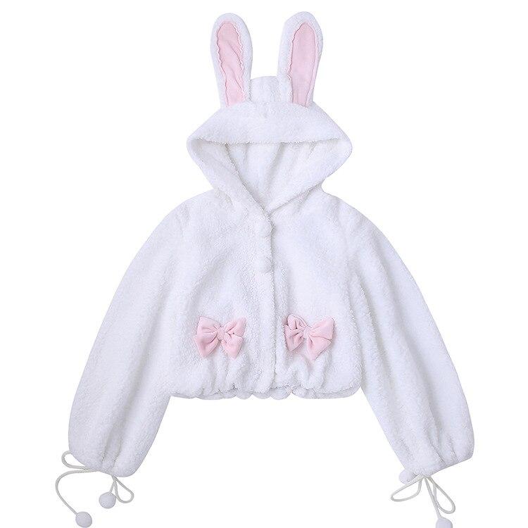 Купить японский студент готическая лолита пальто милый бант с кроличьими
