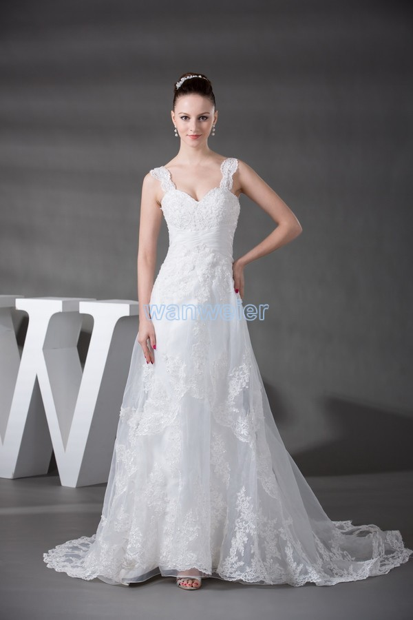 Free Shipping 2016 New Custom Size/color Church Dresses Small Train Mother Of Bride Wedding Dresses Lace Off Shoulder Cap Sleeve