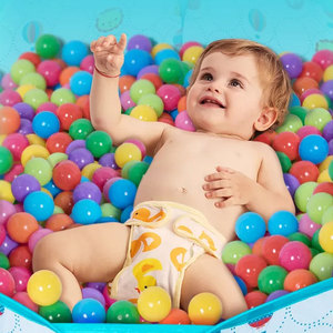 400 Pcs/Lot Plastic Balls Eco-Friendly Colorful Ball Soft Toys For Children Swim Pits Beach Ball Water Pool Ocean Wave Balls(China)