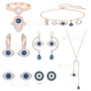 Mulier swa série simbólica elegante e delicado diabo olho padrão perfurado brinco 5497668 5510068 5510067 5425857 5425861