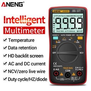 Image 2 - ANENG AN8009 Digital Multimeter Transistor Tester Kondensator True RMS Tester Automotive Elektrische Kapazität Meter Temp Diode