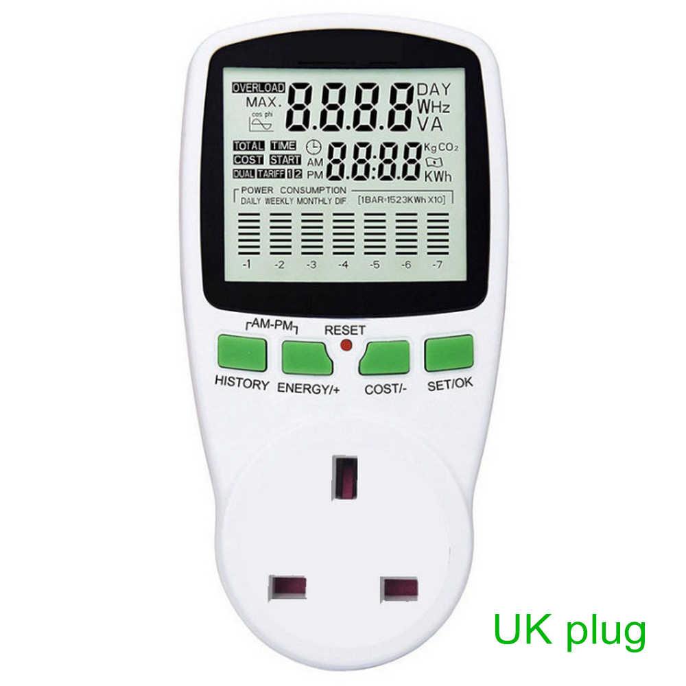 Цифровой измеритель энергии ЖК-дисплей Мощность метр 0,5 W ваттметр мощность кВт Мощность измеритель Мощность анализатор EU/US/UK AU 7