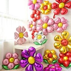 Воздушные шары из фольги с цветами в форме листьев, бордовые вечерние украшения на день рождения, свадебные украшения, вечерние Игрушки для ...