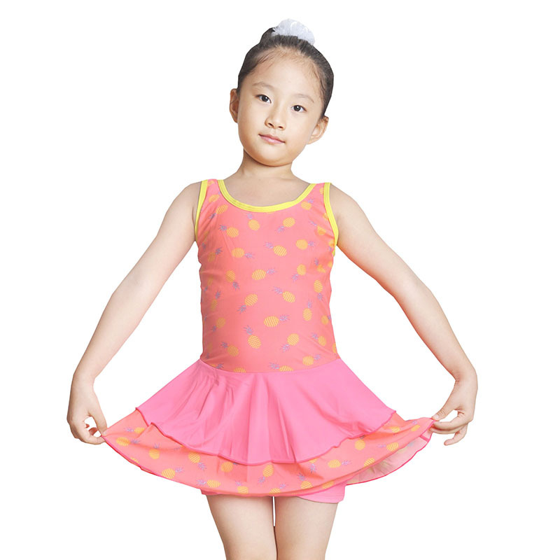 Princess Dress-Kids Girls' Swimsuit GIRL'S One-piece Big Boy Swimming Trunks Girls Young STUDENT'S Tour Bathing Suit Swimwear