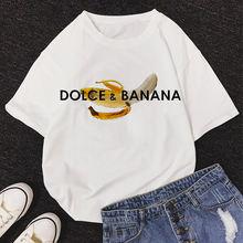 Dolce & Футболка с принтом «банан» для женщин О образным вырезом