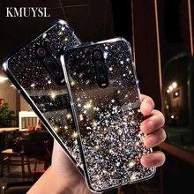 Glitter Transparent Case For Xiaomi Redmi Note 8 5 6 7 Pro 7