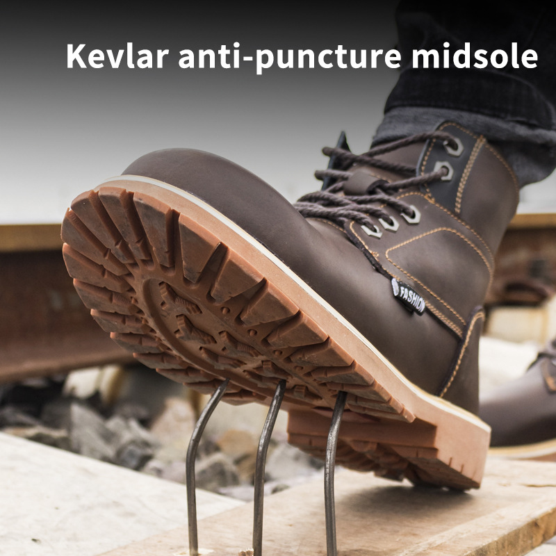 Work Martin Boots For Men Anti-smashing Steel Toe Cap Safety Shoes Indestructible Work Shoes Boots Men's Outdoor Work Shoes