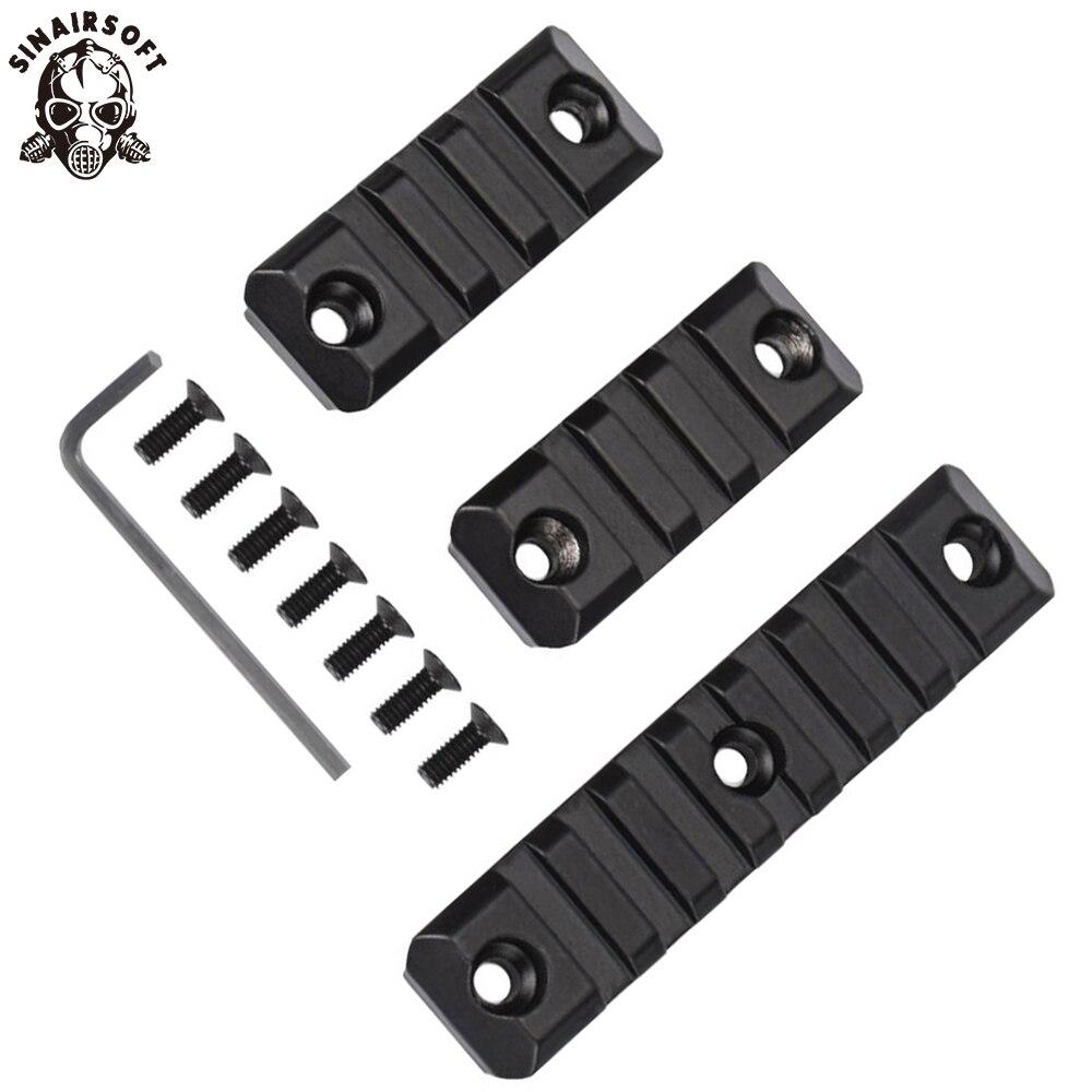 3 Piece Set Gel Blaster 3/7 Slot For SMR 416 Handguard Rail Aluminum Picatinny Rail Mount Handguard Section Paintball Accessory