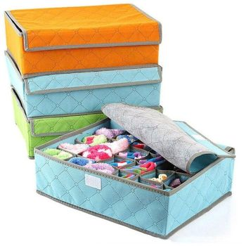 Foldable Organizer Drawer Storage Box Non-woven Fabric Case For Bra Ties Underwear Socks Organizer Drawer Storage Box