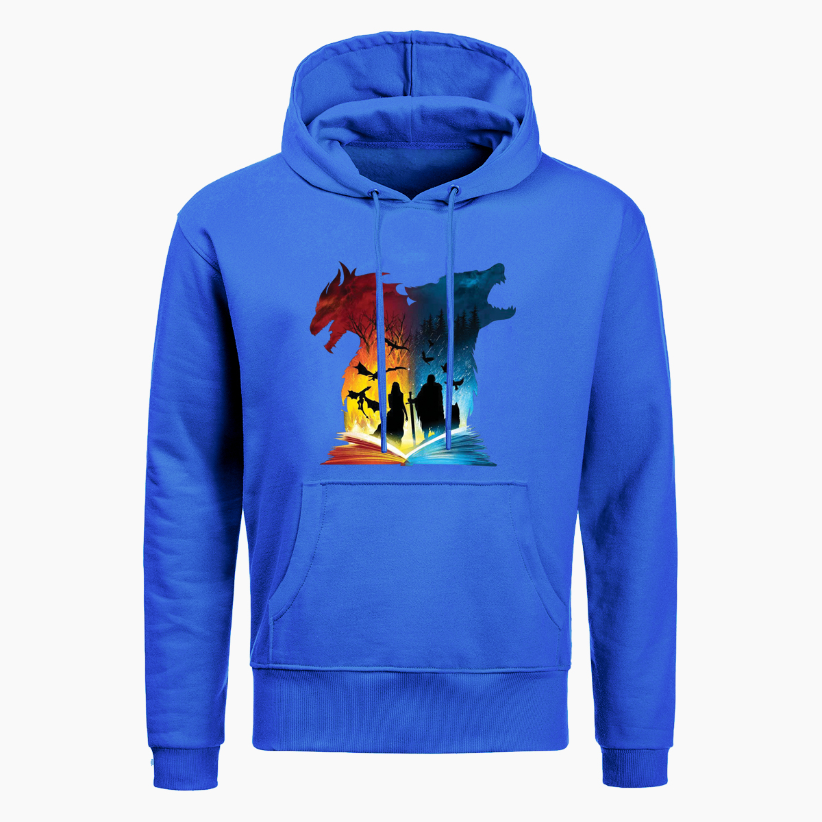 Butterfly and Books Mans Long Sleeve Hoodie Casual Pocket Hooded Sweatshirt