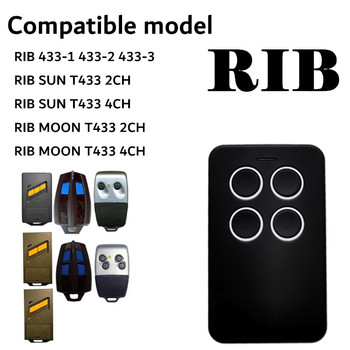 RIB 433-1 433-2 433-3 RIB SUN T433 2-CH T433 4-CH 433MHZ Remote Control Garage Gate Door Opener Remote Control Duplicator the best somfy 433 42mhz remote control duplicator somfy rts garage door opener controle somfy gate opener handheld transmitter